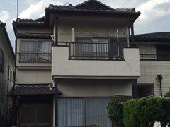 春日井市N様邸、塗装工事前の全景写真