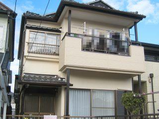 春日井市N様邸、塗装工事完了の外観全景写真