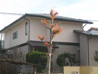 春日井市K様邸、外壁に断熱ガイナ塗装、屋根板金カバー工事施工後の外観全景写真