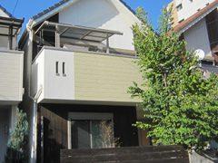 名古屋市H様邸、外壁塗装工事施工前の外観写真