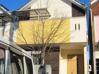 名古屋市H様邸、外壁塗替え工事後の全景画像