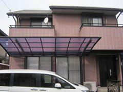 稲沢市H様邸、外壁屋根の塗装工事施工前の外観全景写真