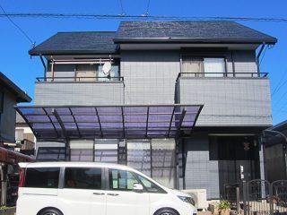 稲沢市H様邸、外壁屋根の塗装工事施工後の外観全景写真