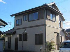 高浜市M様邸、外壁塗装施工前の外観全景写真