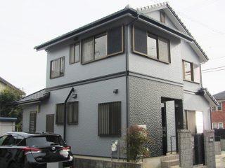 高浜市M様邸、外壁塗装施工後の外観全景写真