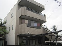 春日井市M様邸、外壁塗替え工事前の外観全景写真