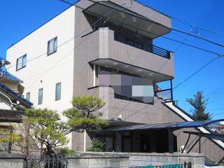 春日井市M様邸、外壁を4Fフッ素とグラシィクリヤーで塗替えた後の外観全景写真