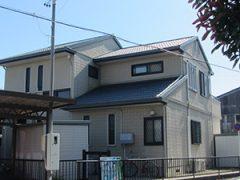 豊田市S様邸、外壁塗替え工事前の全景写真
