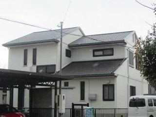 豊田市S様邸、外壁塗替え工事後の全景写真