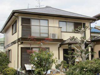 稲沢市M様邸、外壁屋根の塗替え工事後の全景写真