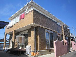 春日井市M様邸、意匠壁のUVプロテクトクリヤー塗装後の全景写真
