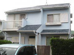 桑名市Y様邸、外壁屋根塗替え工事、施工前全景写真