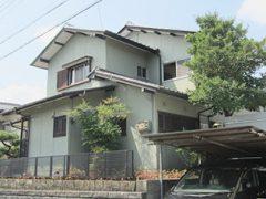 春日井市W様邸、外壁塗り替え工事、施工前全景写真