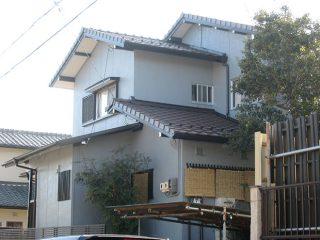 春日井市W様邸、外壁塗装工事、施工後全景写真