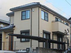 春日井市T様邸、外壁塗り替え工事、施工前外観全景画像