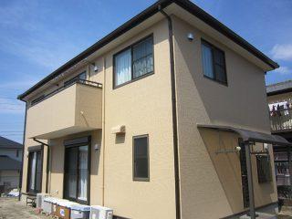 春日井市T様邸、外壁塗装工事、施工後全景写真