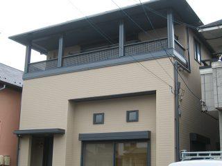 春日井市S様邸、外壁屋根塗装工事施工後全景写真