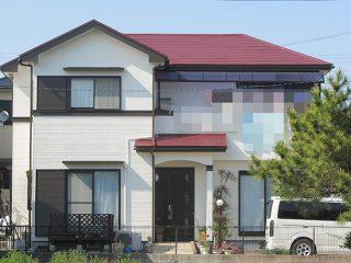 愛知県安城市T様、外壁屋根塗替え工事、施工前全景画像