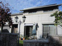 羽島郡U様邸、外壁屋根塗替え工事前の外観写真