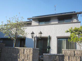 羽島郡U様邸、外壁屋根塗装工事、施工後の全景写真