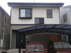 豊田市M様邸、断熱ガイナで外壁塗装工事、塗装前の外観全景写真