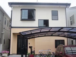豊田市M様邸、断熱ガイナで外壁塗り替え工事、塗装後の外観全景画像