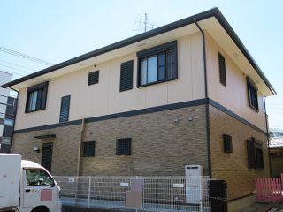 春日井市M様邸、外壁塗装工事、施工後全景写真