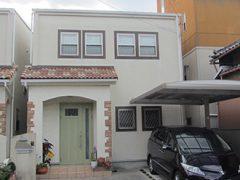 名古屋市S様邸、外壁塗替え工事施工前、外観画像