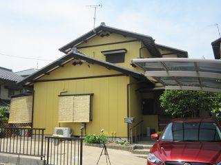 岐阜県土岐市S様邸、外壁塗装工事、施工後全景写真