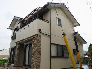 丹羽郡A様邸、外壁塗り替え工事、施工後全景写真