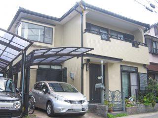 名古屋市M様邸、外壁塗替え工事、施工後全景写真