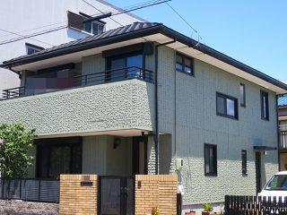 名古屋市S様邸、外壁塗装工事施工後の外観全景写真