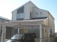 三重県桑名市M様邸、外壁屋根塗替え工事、施工前、全景写真