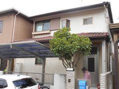 春日井市U様邸、外壁屋根塗替え工事、施工前、全景画像