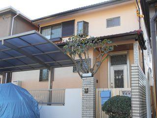 春日井市U様邸、外壁屋根塗装工事、施工後、外観写真