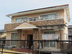 瀬戸市Y様邸、外壁塗替え工事、施工前、全景画像