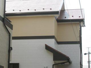 春日井市T様邸、外壁屋根塗装工事、施工後、全景写真