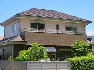春日井市W様邸、外壁塗装塗替え工事、施工後、全景写真