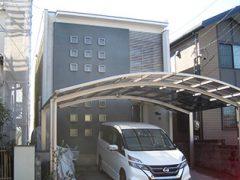 春日井市Y様邸、外壁塗替え工事、施工前、全景画像