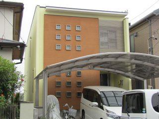 春日井市Y様邸、外壁塗装塗替え工事、施工後、全景写真