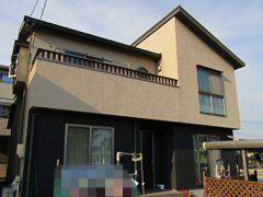 東海市K様邸、外壁屋根塗替え工事、施工前、全景画像