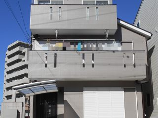 名古屋市F様邸、外壁屋根塗装工事、施工後、全景写真