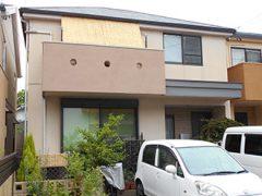 名古屋市N様邸、外壁屋根塗替え工事、施工前、全景画像