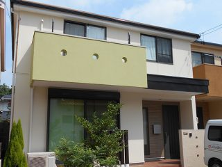 名古屋市N様邸、外壁屋根塗装工事、施工後、外観写真