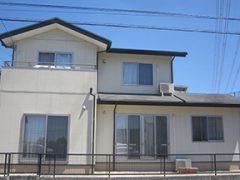 みよし市H様邸、外壁屋根塗替え工事、施工前、全景画像