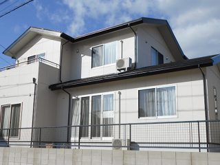 みよし市H様邸、外壁屋根塗装工事、施工後、外観写真