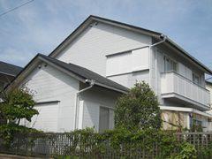 桑名市K様邸、外壁塗替え、屋根葺替え工事、施工前、全景画像