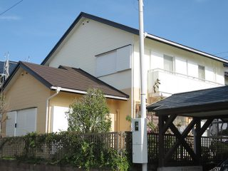 桑名市K様邸、外壁塗装、屋根葺き替え工事、施工後、外観写真