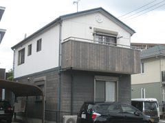春日井市N様邸、外壁屋根塗替え工事、施工前、全景画像