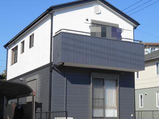 春日井市N様邸、外壁屋根塗装工事、施工後、外観写真